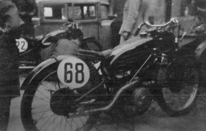 The winning number 68 of Herbert Körting