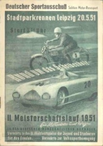Advertising of the race in 1951